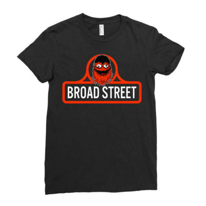 Gritty Broad Street Ladies Fitted T-shirt Designed By Schulz-12