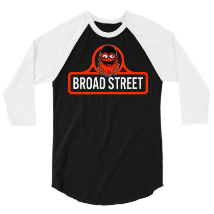 Gritty Broad Street 3/4 Sleeve Shirt Designed By Schulz-12