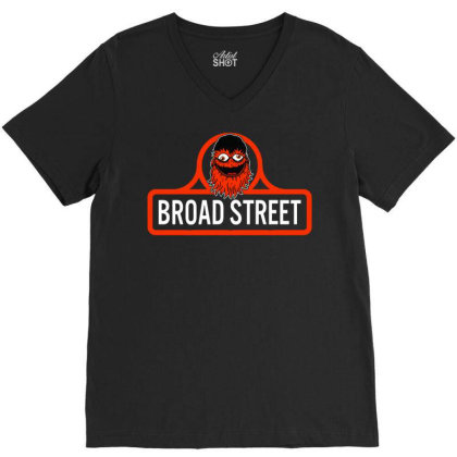 Gritty Broad Street V-neck Tee Designed By Schulz-12