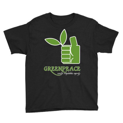 Greenpeace 100 Renewable Energy Youth Tee Designed By Schulz-12