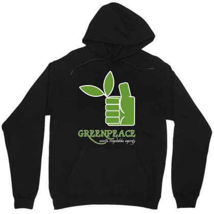 Greenpeace 100 Renewable Energy Unisex Hoodie Designed By Schulz-12