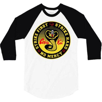 Cobra Kai The Karate 3/4 Sleeve Shirt Designed By Schulz-12