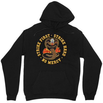 Cobra Kai Strike First Strike Hard No Mercy Unisex Hoodie Designed By Schulz-12