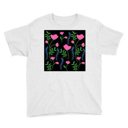 Pink Poppy Flower Design Youth Tee Designed By American Choice