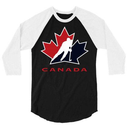 Canada National Team Hockey Logo 3/4 Sleeve Shirt Designed By Schulz-12
