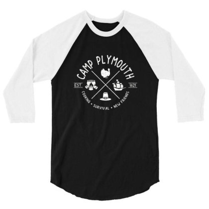 Camp Plymouth 3/4 Sleeve Shirt Designed By Elijahbiddell
