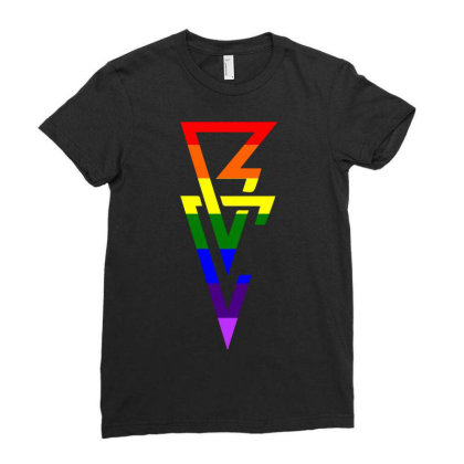 Balor Club Lgbt Flag Ladies Fitted T-shirt Designed By Schulz-12