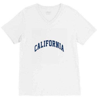 California V-neck Tee Designed By Elijahbiddell