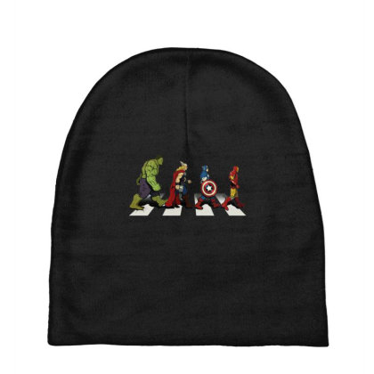 Funny Superhero Road Baby Beanies Designed By Realme Tees