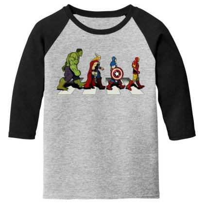 Funny Superhero Road Youth 3/4 Sleeve Designed By Realme Tees