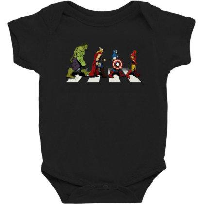 Funny Superhero Road Baby Bodysuit Designed By Realme Tees