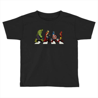 Funny Superhero Road Toddler T-shirt Designed By Realme Tees