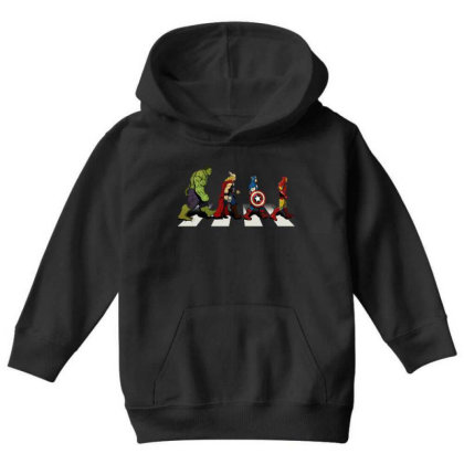 Funny Superhero Road Youth Hoodie Designed By Realme Tees
