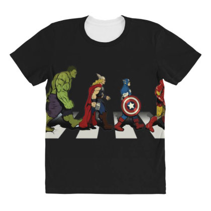 Funny Superhero Road All Over Women's T-shirt Designed By Realme Tees