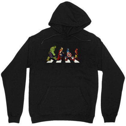 Funny Superhero Road Unisex Hoodie Designed By Realme Tees