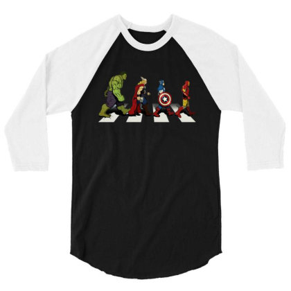 Funny Superhero Road 3/4 Sleeve Shirt Designed By Realme Tees