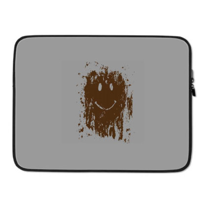 Mud Splatter Smiley Face Laptop Sleeve Designed By Hectorz