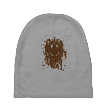Mud Splatter Smiley Face Baby Beanies Designed By Hectorz