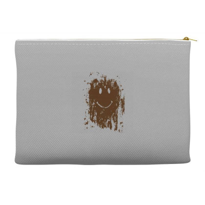 Mud Splatter Smiley Face Accessory Pouches Designed By Hectorz