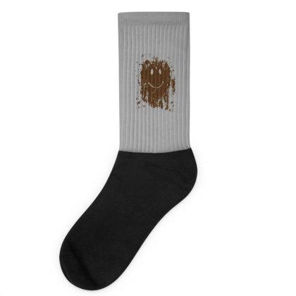 Mud Splatter Smiley Face Socks Designed By Hectorz