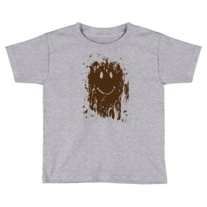 Mud Splatter Smiley Face Toddler T-shirt Designed By Hectorz