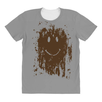 Mud Splatter Smiley Face All Over Women's T-shirt Designed By Hectorz