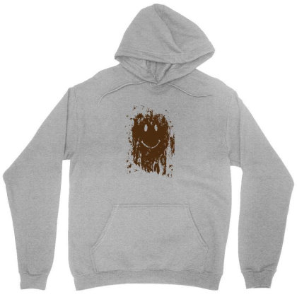 Mud Splatter Smiley Face Unisex Hoodie Designed By Hectorz
