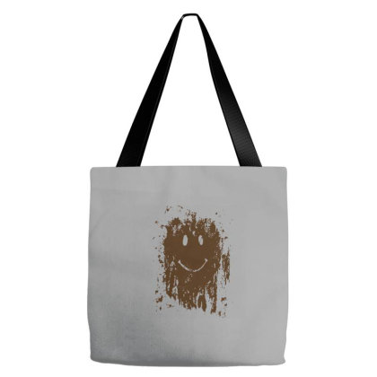 Mud Splatter Smiley Face Tote Bags Designed By Hectorz