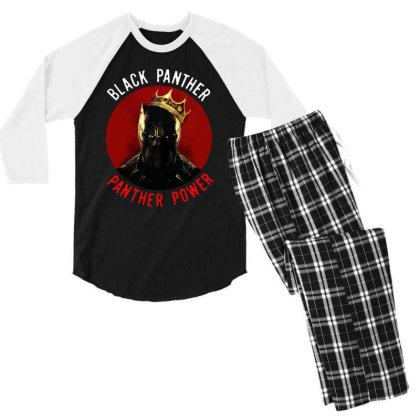 Panther Power Black Panther Men's 3/4 Sleeve Pajama Set Designed By Realme Tees