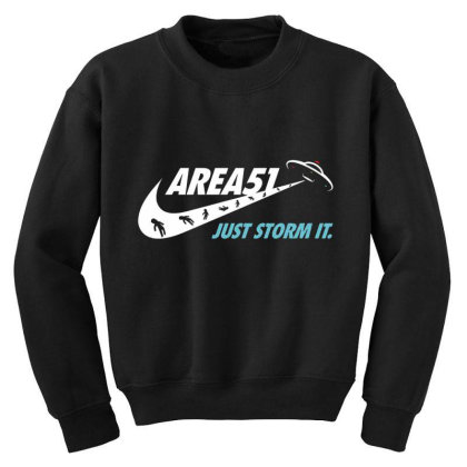 Just Storm It Youth Sweatshirt Designed By Hectorz