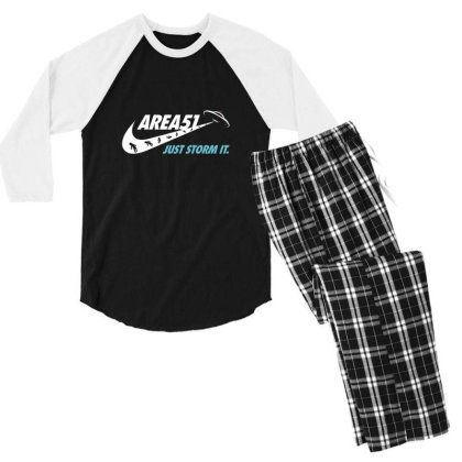 Just Storm It Men's 3/4 Sleeve Pajama Set Designed By Hectorz