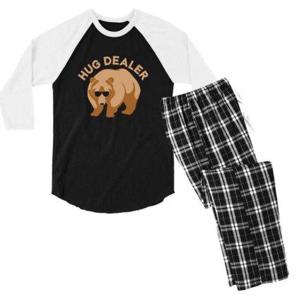 Hug Dealer Men's 3/4 Sleeve Pajama Set Designed By Hectorz