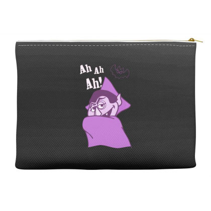 Ah Ah Ah! Count Von Count Accessory Pouches Designed By Realme Tees