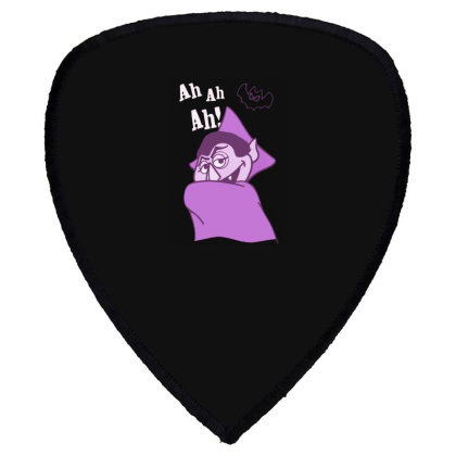 Ah Ah Ah! Count Von Count Shield S Patch Designed By Realme Tees