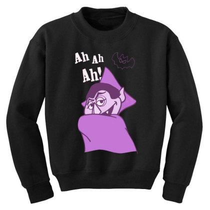 Ah Ah Ah! Count Von Count Youth Sweatshirt Designed By Realme Tees