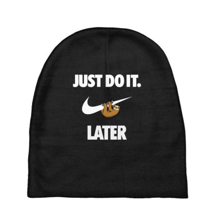 Do It Sloth Funny Baby Beanies Designed By Realme Tees