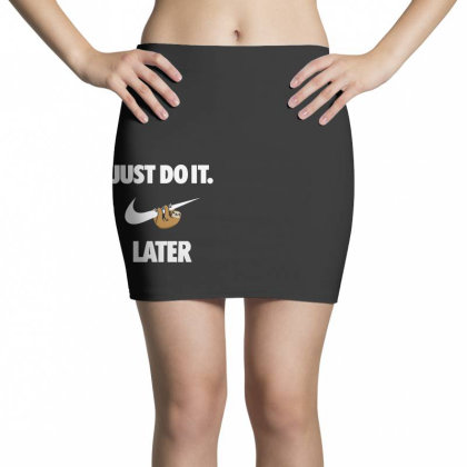 Do It Sloth Funny Mini Skirts Designed By Realme Tees