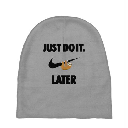 Funny Do It Sloth Baby Beanies Designed By Realme Tees
