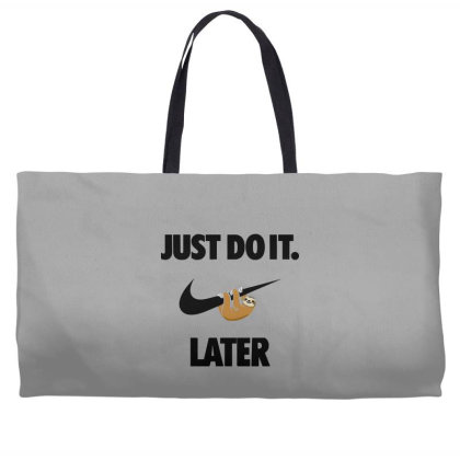 Funny Do It Sloth Weekender Totes Designed By Realme Tees