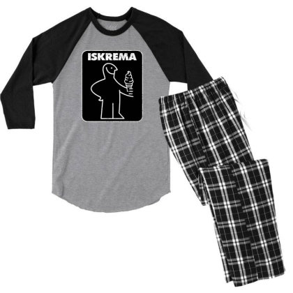 Iskrema Men's 3/4 Sleeve Pajama Set Designed By Hectorz