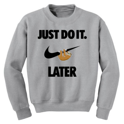 Funny Do It Sloth Youth Sweatshirt Designed By Realme Tees