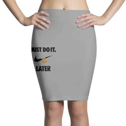 Funny Do It Sloth Pencil Skirts Designed By Realme Tees