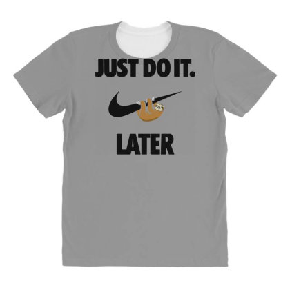 Funny Do It Sloth All Over Women's T-shirt Designed By Realme Tees