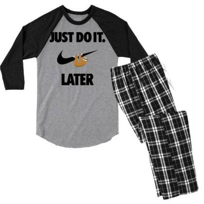 Funny Do It Sloth Men's 3/4 Sleeve Pajama Set Designed By Realme Tees