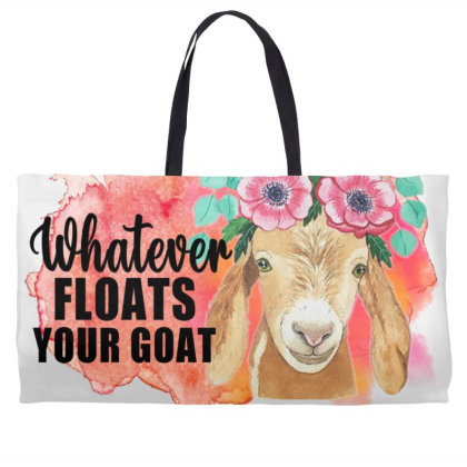 Whatever Floats Your Goat Weekender Totes Designed By Alparslan Acar