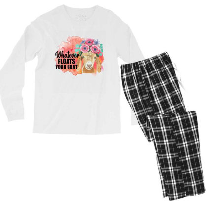 Whatever Floats Your Goat Men's Long Sleeve Pajama Set Designed By Alparslan Acar