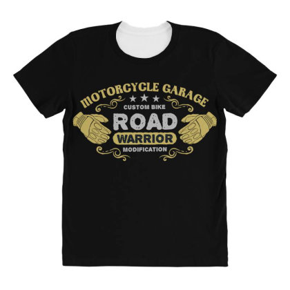 Motorcycle Garage All Over Women's T-shirt Designed By Chiks