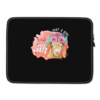Just A Girl Who Loves Goats Laptop Sleeve Designed By Alparslan Acar
