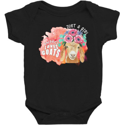 Just A Girl Who Loves Goats Baby Bodysuit Designed By Alparslan Acar