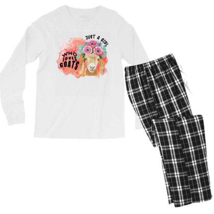 Just A Girl Who Loves Goats Men's Long Sleeve Pajama Set Designed By Alparslan Acar
